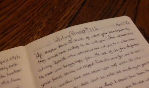 writing prompt journal page