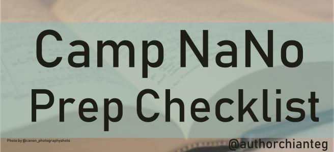 camp nano prep checklist